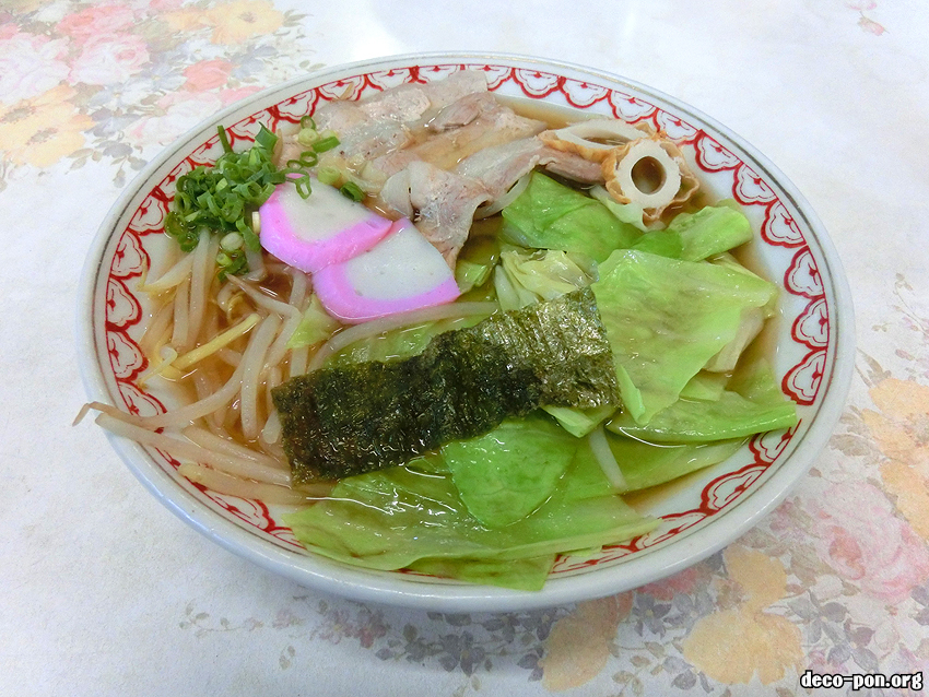 田舎の味 千津食堂 中華そば350円